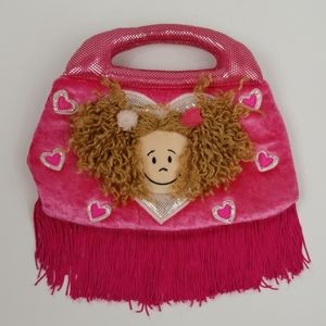 Jelly Cat Pink Kid's Purse With Fringe